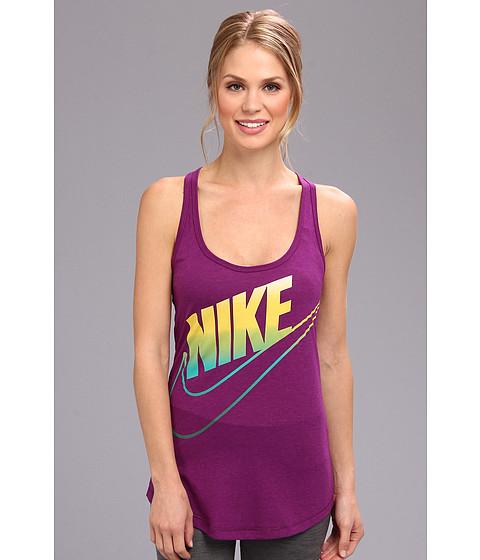 Bluze Nike - Futura Fade Loose Tank - Bright Grape/Dark Grey Heather/Venom Green
