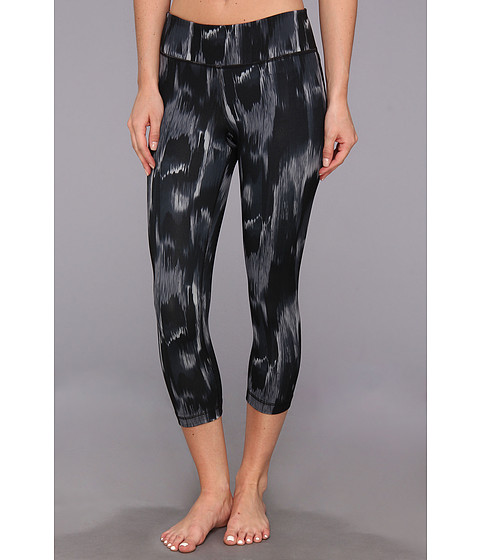 Pantaloni Under Armour - Perfect Tight Printed Capri - Black/Metallic Pewter