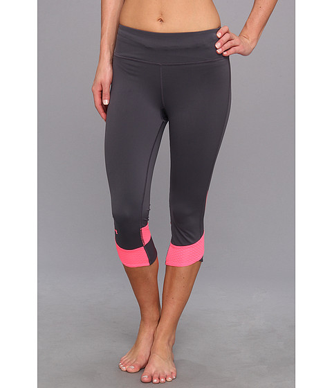 Pantaloni Under Armour - Power In PinkÃ'® Fly-By Compression Capri - Lead/Cerise/Reflective