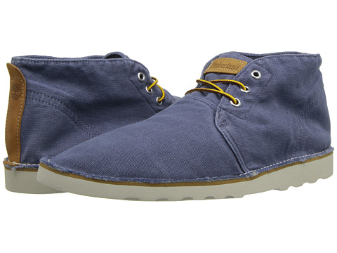 Adidasi Timberland - EarthkeepersÃ'® Handcrafted Wedge Plain Toe Chukka - Blue Canvas