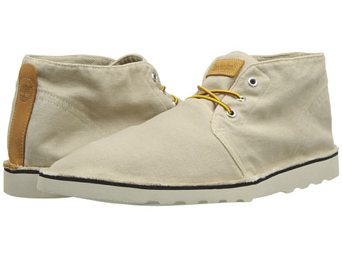 Adidasi Timberland - EarthkeepersÃ'® Handcrafted Wedge Plain Toe Chukka - Off-White Canvas