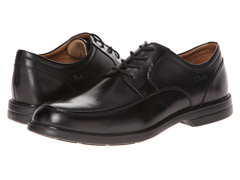 Pantofi Clarks - Bilton Walk - Black Leather