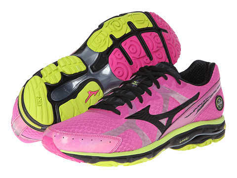 "Adidasi Mizuno - WaveÃ'® Riderâ""¢ 17 - Electric/Black/Lime Punch"
