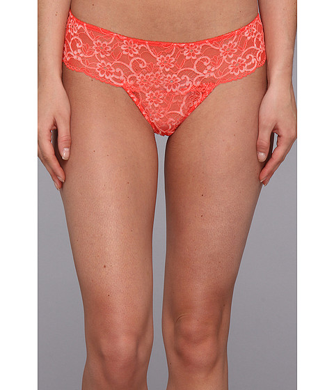 Lenjerie Cosabella - Glow in the Dark Lace Lowrider Thong - Neon Orange