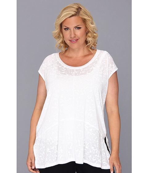Bluze DKNY - Plus Size Plastisol Print Top - White