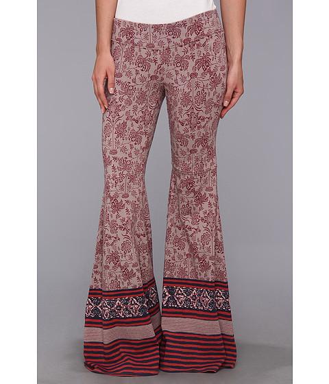 Pantaloni Free People - Printed Flare Pull On - Taupe Combo