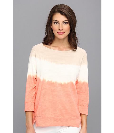 Bluze C&C California - 3/4 Sleeve Dip Dye Sweatshirt - Persimmon
