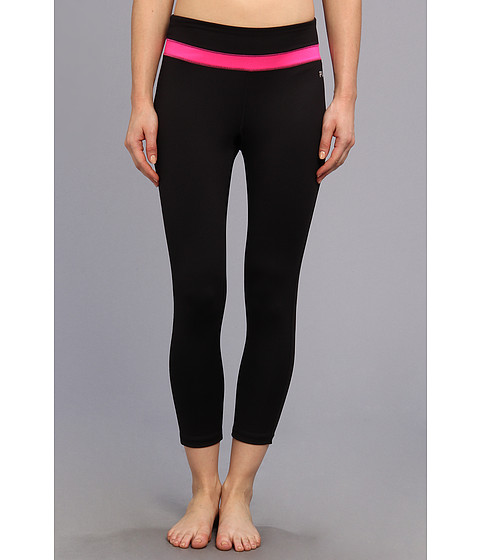 Pantaloni Fila - 3/4 Length Tight - Black/Pink Glo/Pink Glo