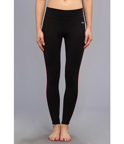 Pantaloni Fila - Side Piped Long Tight - Black/Pink Glo