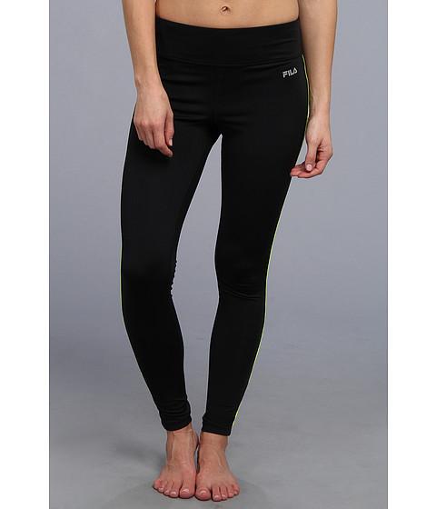 Pantaloni Fila - Side Piped Long Tight - Black/Safety Yellow
