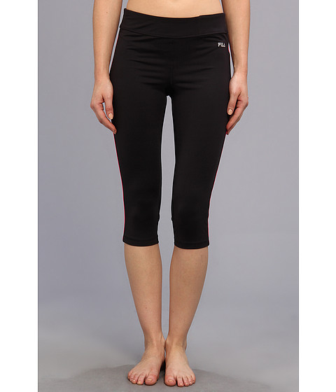 Pantaloni Fila - Side Piped Tight Capri - Black/Pink Glo