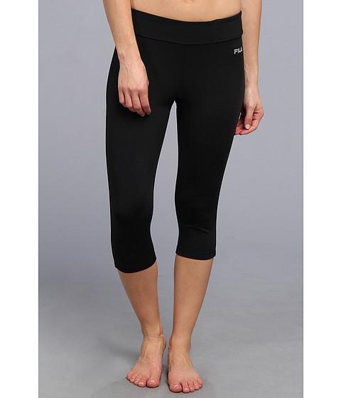 Pantaloni Fila - Side Piped Tight Capri - Black/Black