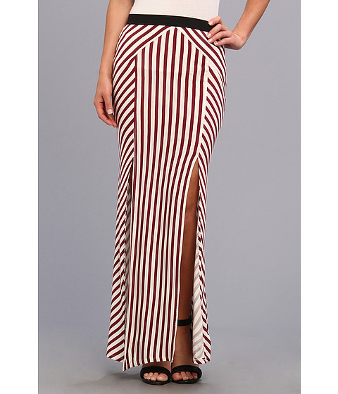 Fuste Free People - Whats Your Angle Maxi - Ivory/Black Cherry