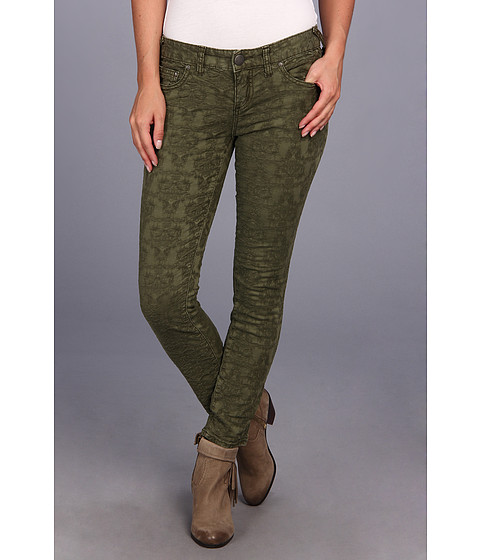 Blugi Free People - Jacquard Washed 5 Pocket - Olive