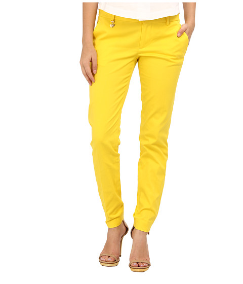 Pantaloni DSQUARED2 - Medium Waist Super Slim Pant - Yellow