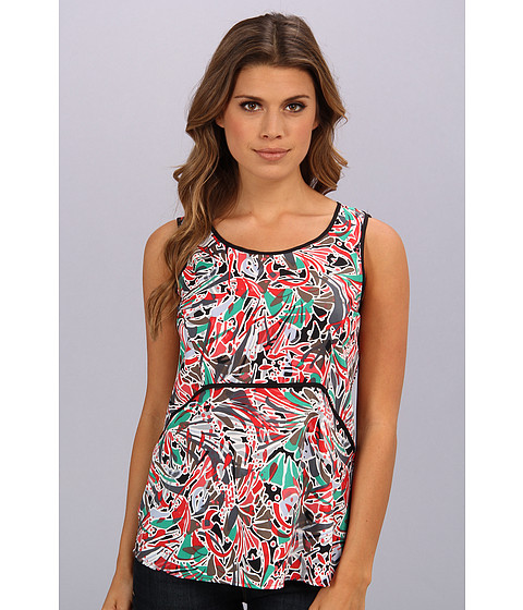 Bluze Nine West - Graphic Printed Cami w/ Piping - Tropical Multi