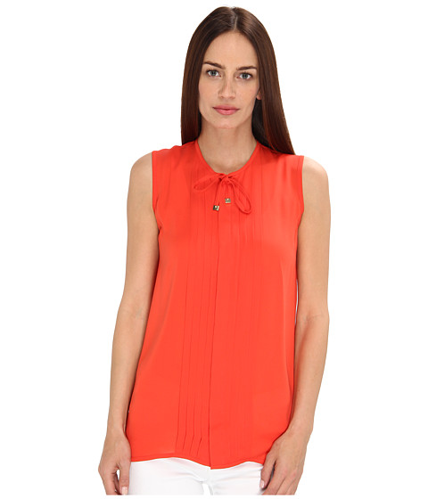 Bluze DSQUARED2 - Pleated Dolly Sleeveless Shirt - Coral