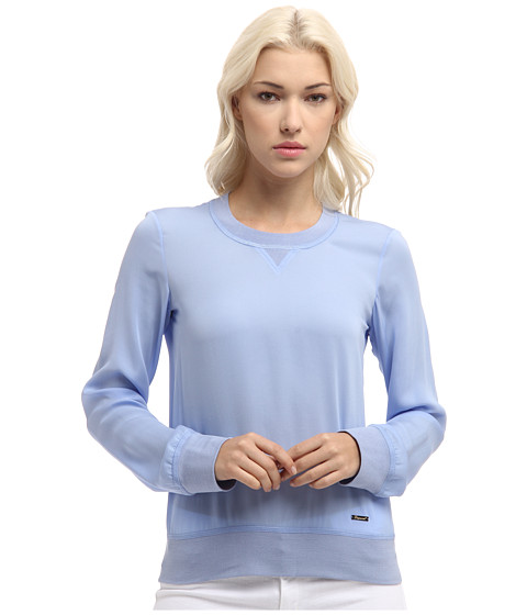 Bluze DSQUARED2 - Sporty Couture Long Sleeves Top - Light Blue