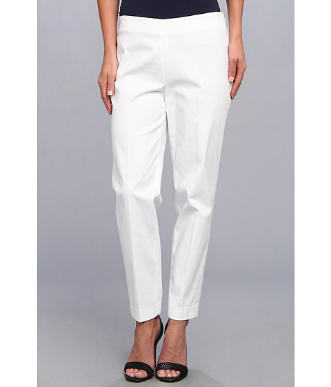 Pantaloni Jones New York - Slim Stretch Cotton Pant - White