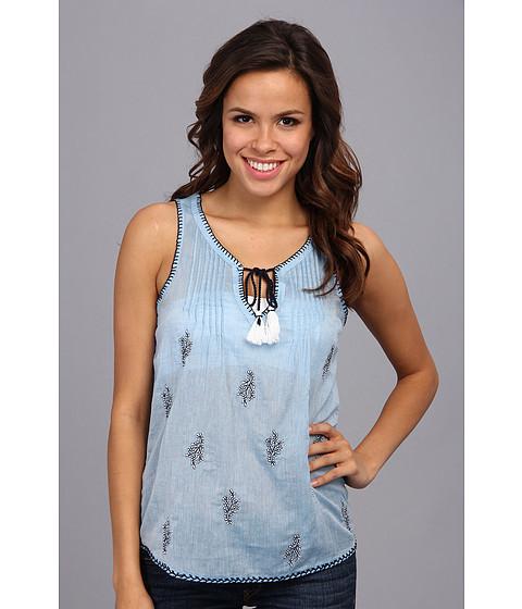 Bluze Lucky Brand - Embroidered Tank - Indigo