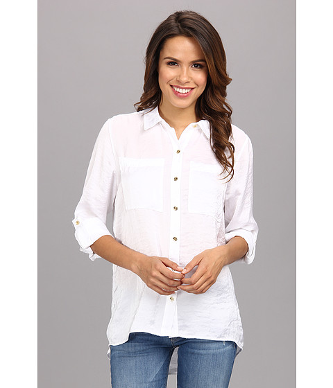 Camasi MICHAEL Michael Kors - High-Low Button Down Shirt - White
