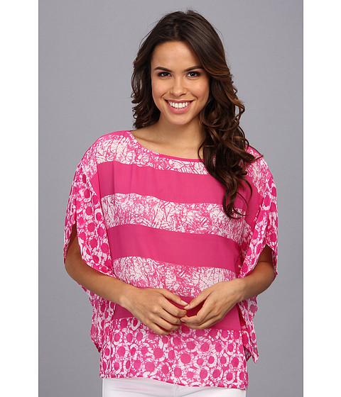 Bluze MICHAEL Michael Kors - Peninsula Kimono Tunic - Radiant Pink