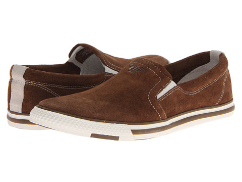 Adidasi Armani Jeans - Suede Slip On - Brown