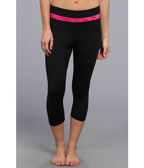 Pantaloni Fila - Animal Print Tight Capri - Black/Pink Glo/Concord Reptile Print