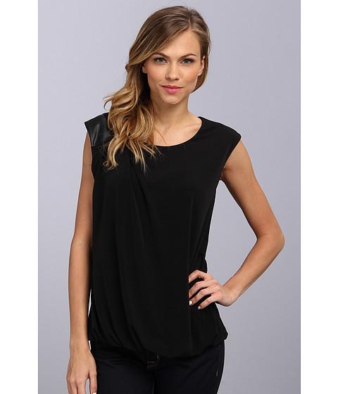 Bluze Calvin Klein - Tank w/ PU Trim - Black