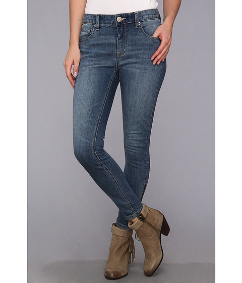 Blugi Free People - High Rise Ankle Zip in Kat Wash - Kat Wash