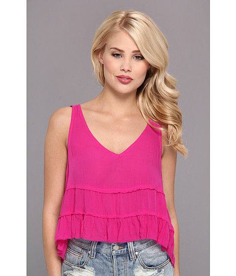 Bluze Free People - Solid Crinkle Breeze Cami - Vivid Purple