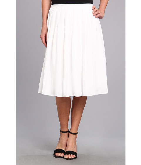 Fuste Calvin Klein - Pleated Short Skirt - White