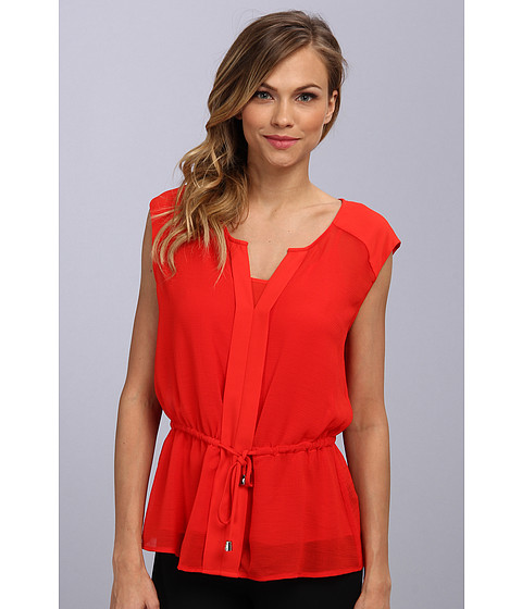 Bluze Vince Camuto - S/L Tie Front Blouse w/ Cami - Flame