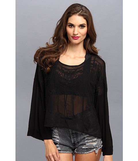 Bluze Free People - Pandora\s Embroidered Top - Black