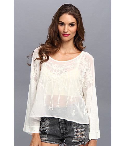Bluze Free People - Pandora\s Embroidered Top - White