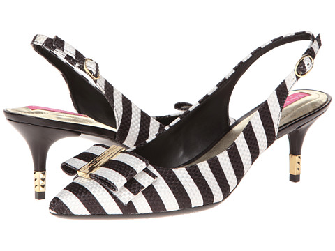 Pantofi Isaac Mizrahi New York - Mindy2 - Black/White Stripe Fabric