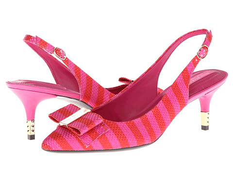 Pantofi Isaac Mizrahi New York - Mindy2 - Red/Pink Stripe Fabric