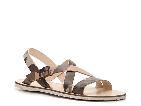 Pantofi Mercanti Fiorentini - Back Strap Sandal - Olive/Tan