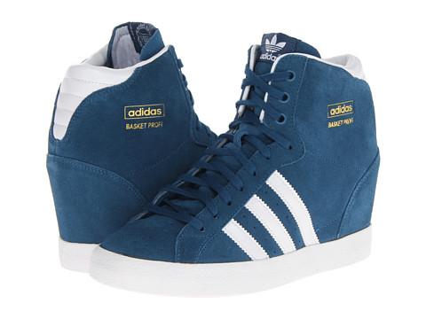 Adidasi Adidas Originals - Basket Profi Up Sneakerwedge - Tribe Blue/White/Metallic Gold