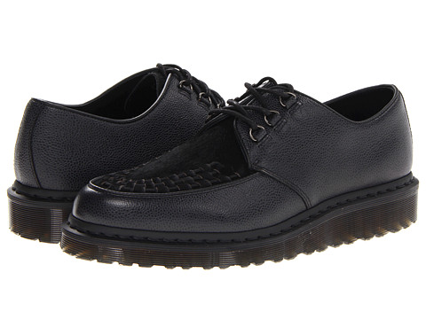 Pantofi Dr. Martens - Beck Creeper - Black Scotchgrain/Italian Hair On
