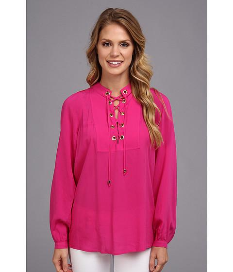 Bluze MICHAEL Michael Kors - L/S Lace Up Top - Radiant Pink