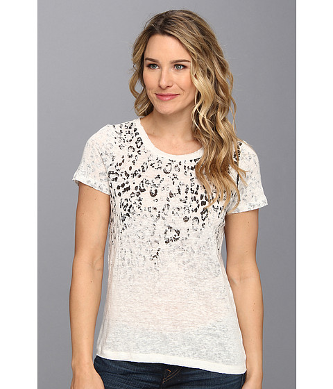 Bluze Vince Camuto - Sunbleached Leopard Jersey Tee - New Ivory