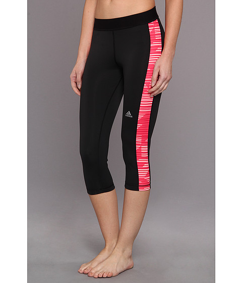 "Pantaloni adidas - TECHFITâ""¢ Capri Tight - Stronger - Black/Vivid Berry"
