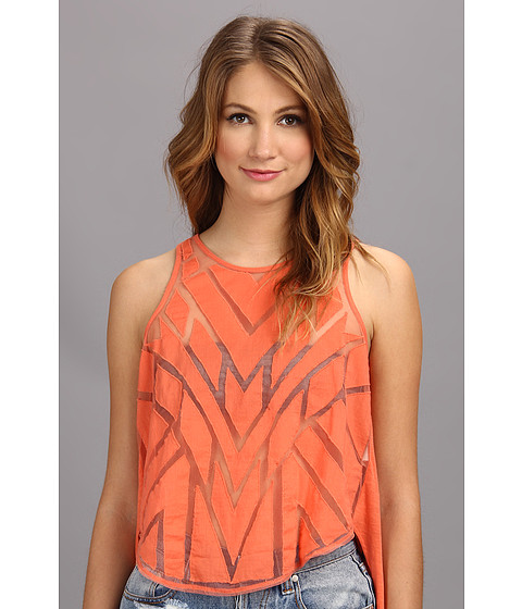 Bluze Free People - Ginger Top - Hot Coral