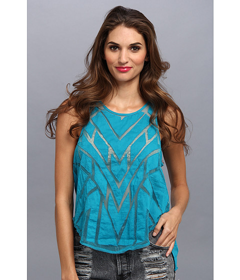 Bluze Free People - Ginger Top - Deep Turquoise