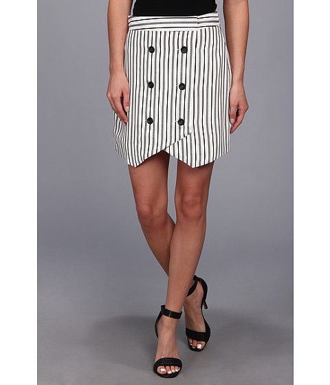 Fuste BCBGeneration - Button Front Skirt - Off White Combo