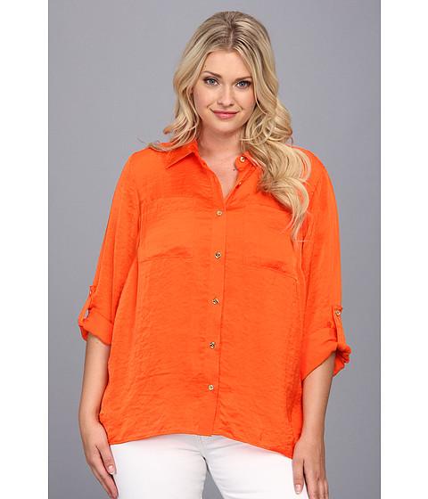 Bluze MICHAEL Michael Kors - Plus Size High-Low Button Down Shirt - Poppy