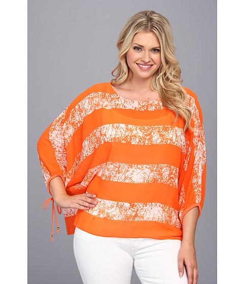 Bluze MICHAEL Michael Kors - Plus Size Peninsula Kimono Top w/ Sleeve Ties - Poppy