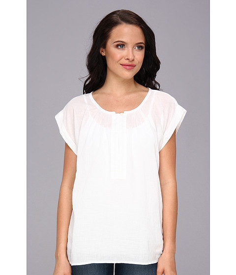 Bluze C&C California - Split Neck Voile Top - White
