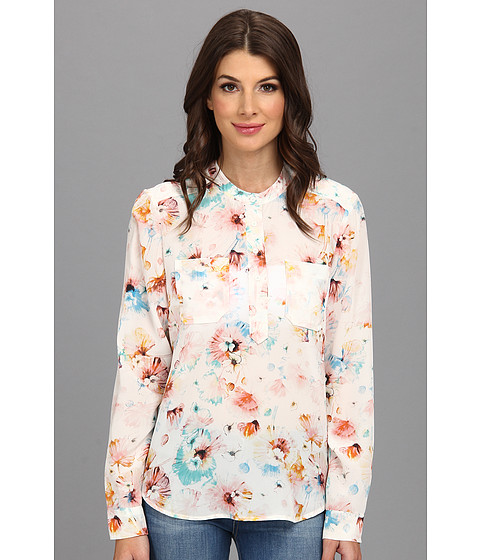 Bluze Rebecca Taylor - L/S Poppy Blossom Top - Cream
